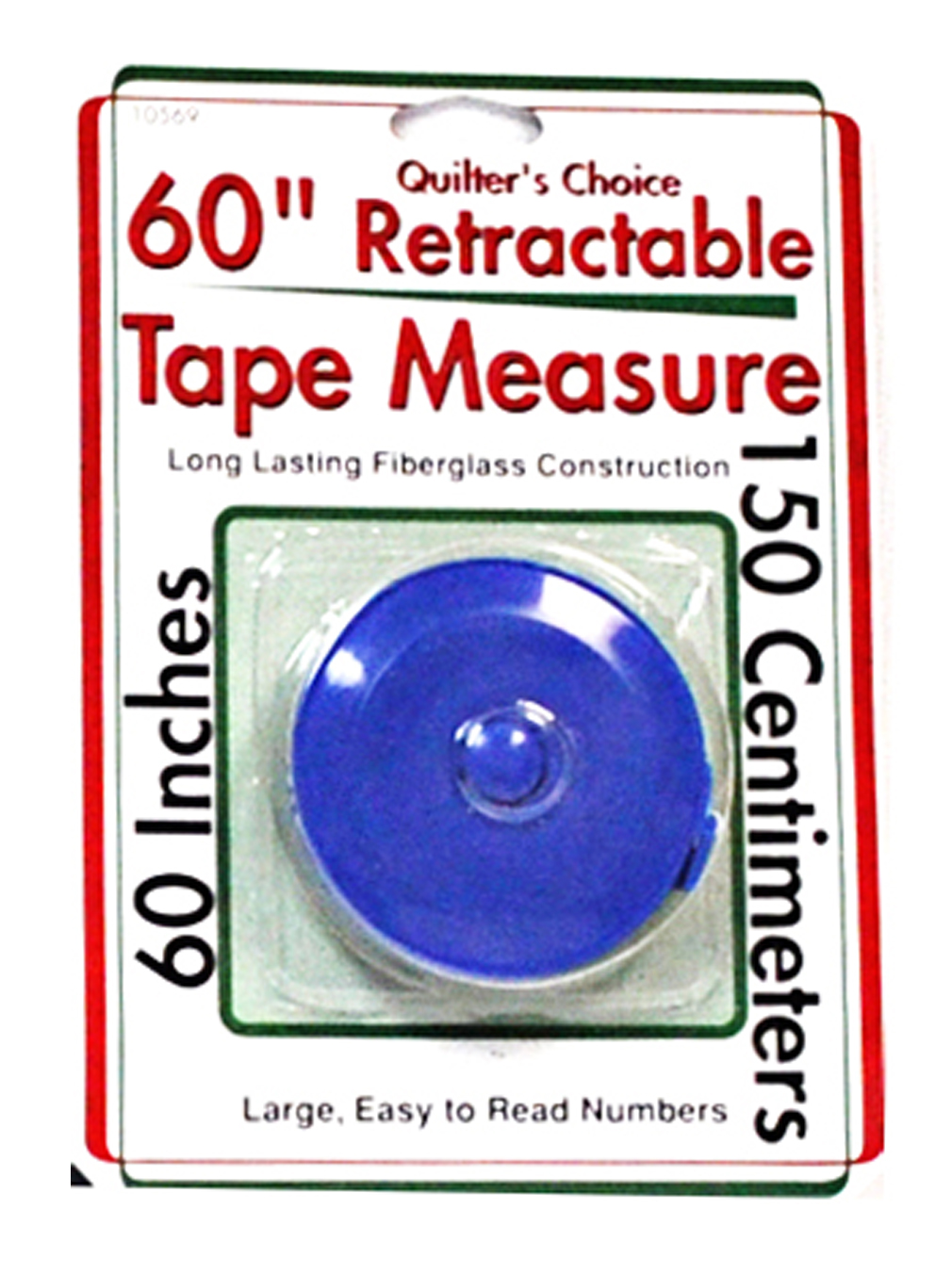 quilters choice 60 inch retractable tape measure blue