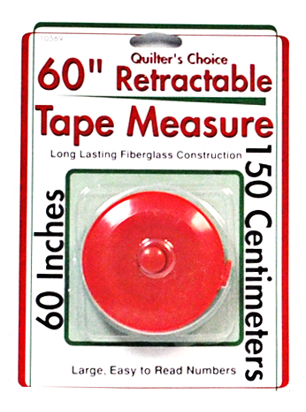 quilters choice 60 inch retractable tape measure red
