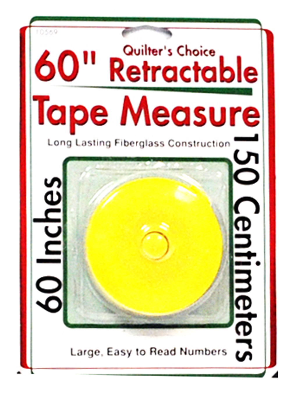 quilters choice 60 inch retractable tape measure yellow