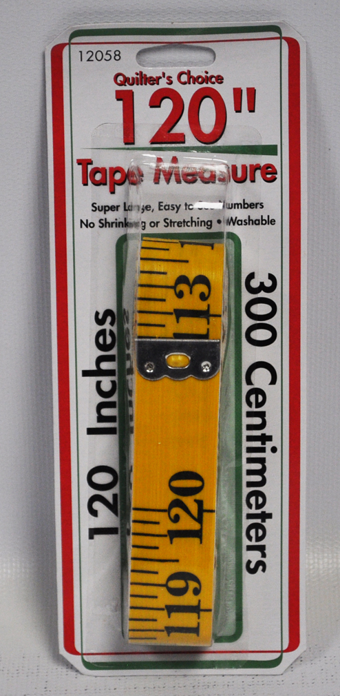 quilters choice tape measure 120 inch yellow fiberglass 12058