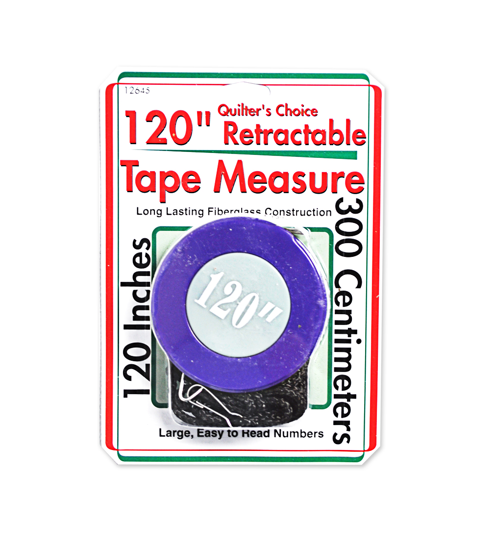 quilters choice 120in retractable tape measure