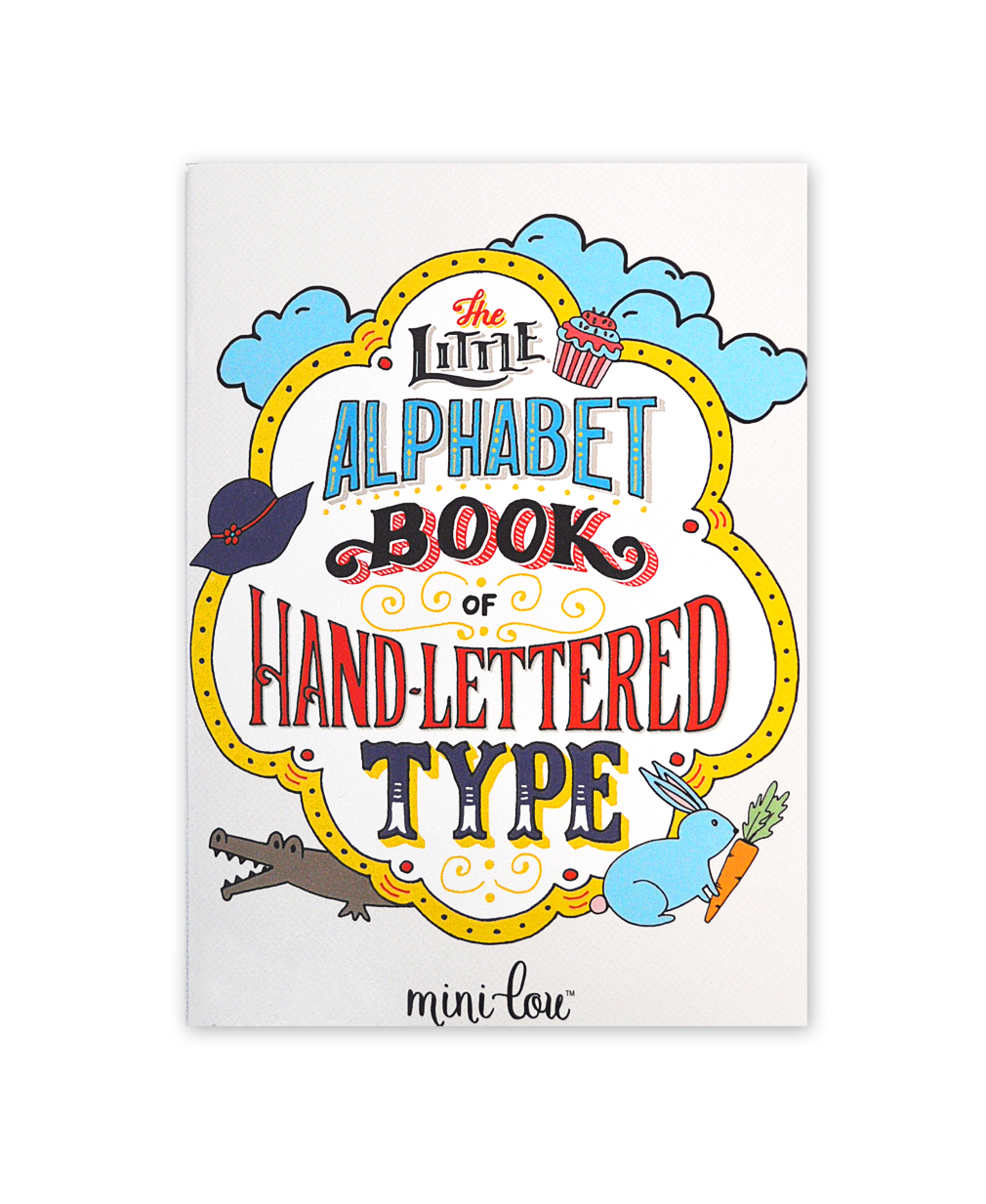 the little alphabet book of handlettered type coloring book