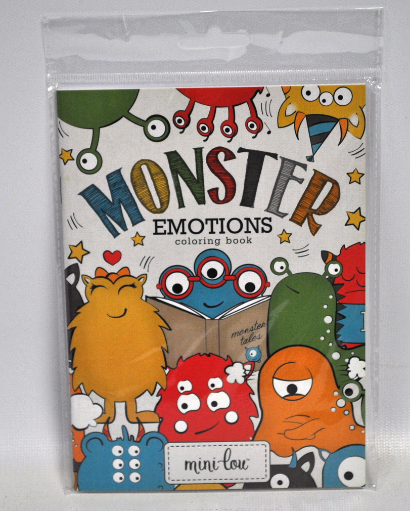 monster emotions coloring book