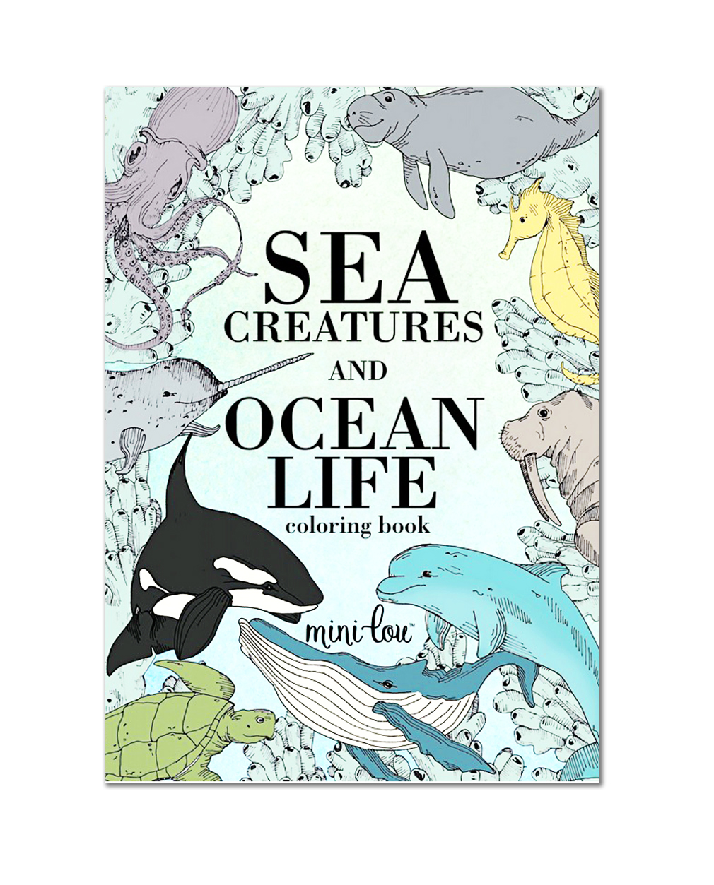 sea creatures and ocean life coloring book
