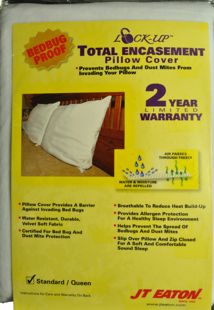 bedbug dust mites pillow cover protector cs 8392 20x26