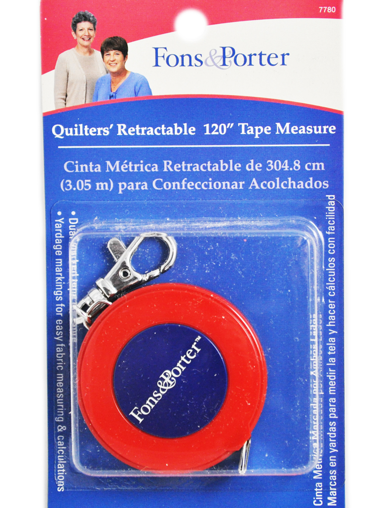 fons and porter 120 inches quitlers retractable tape measure