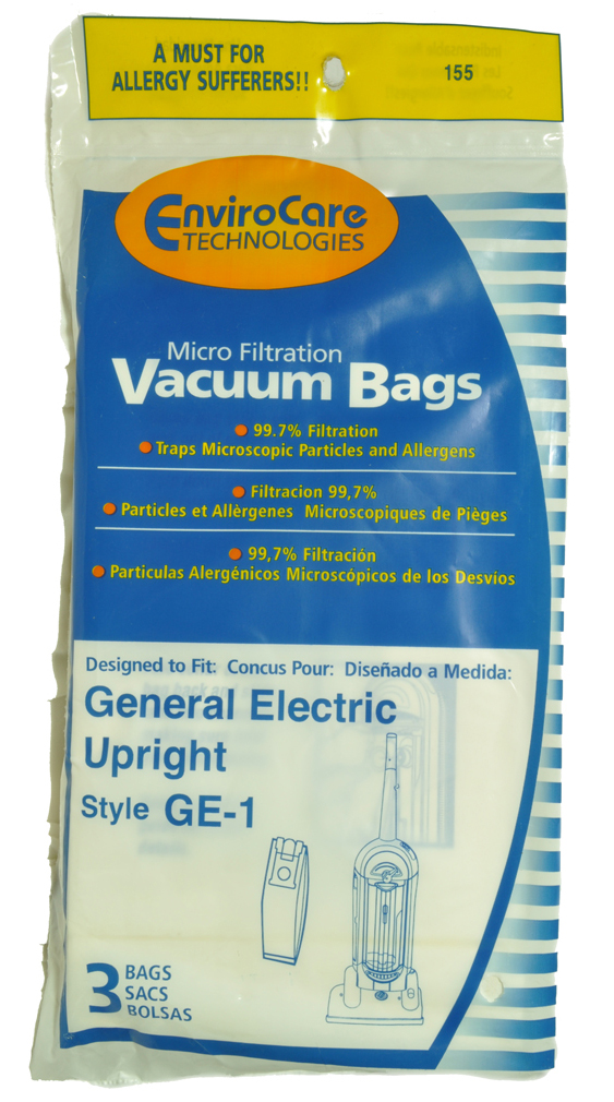 GE Upright Vacuum Cleaner Bags, Style GE1, EnviroCare  Brand, designed to fit GE Upright at Sears.com