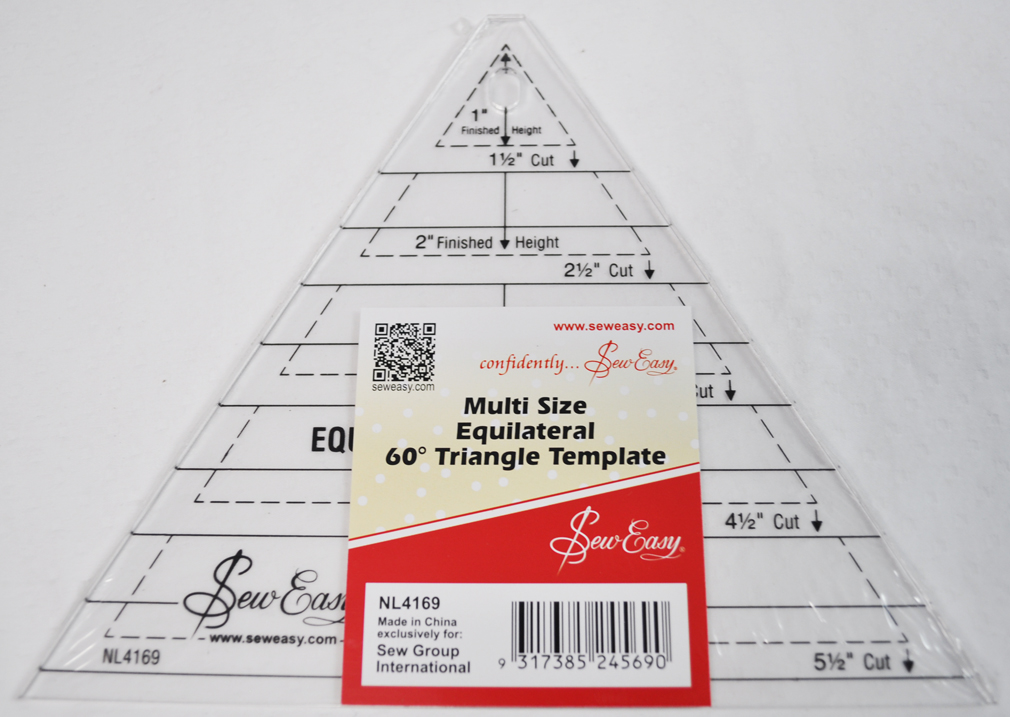 Sew Easy Multi Size Equilateral 60 Degree Triangle Quilt Template ...