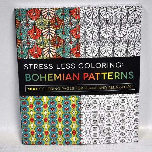 stress less coloring bohemian patterns coloring book
