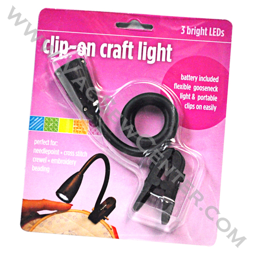Clip on craft light 3 bright leds dixon 39 s vacuum and for Clip lights for crafts