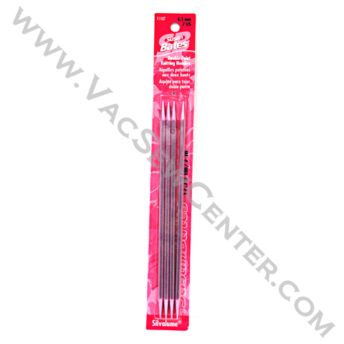 Susan Bates Silvalume Double Point Knitting Needles 7 Inch ...