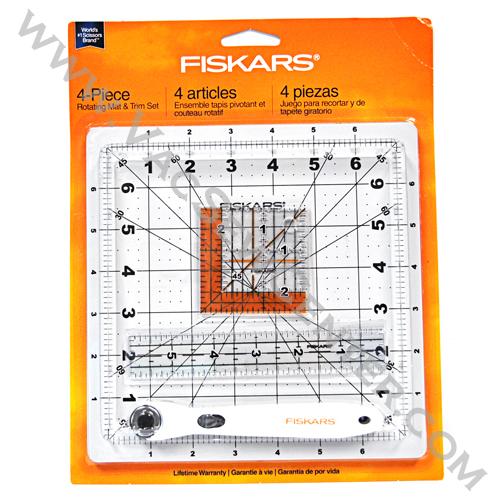 Fiskars 4-Piece Rotating Mat and Trim Set