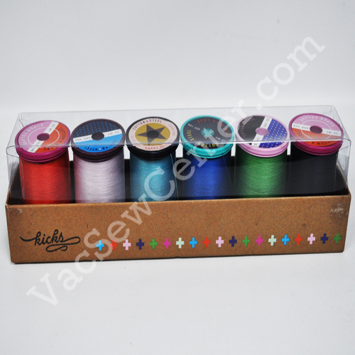 Steel 50wt Egyptian Cotton Thread by Sulky 1043 Dark Navy Cotton